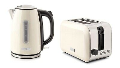 Haden Turnbridge Twin Cordless Kitchen Kettle & Toaster Set - Cream