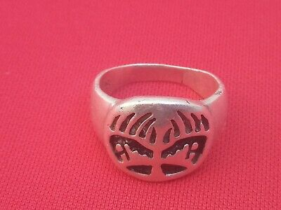 Roman Silver Ring Antiques Style Pure 925 Intaglio Signet Seal Stunning Quality
