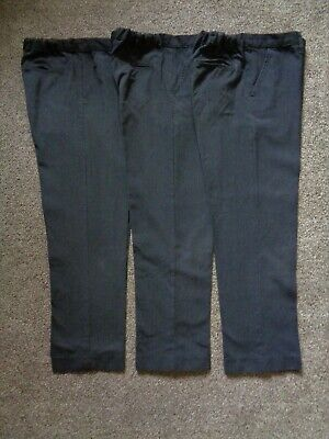 Boy's Dark Grey School Trousers By Tu Age 10 Years 140Cm Good Condition