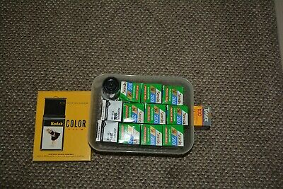 Fuji Fujichrome Sensia 35mm RM135 36 exposure colour slide film ISO 200  9 rolls