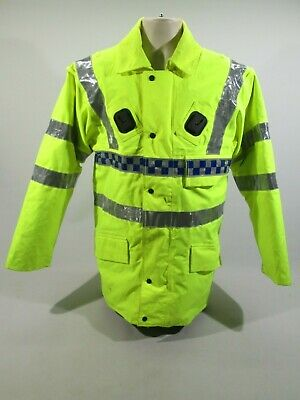 NEW Ex Police Waterproof Gore-Tex Hi Vis Over Trousers Size Small Short SS