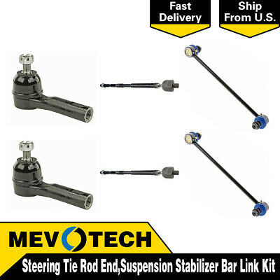 Sway Bar Links Inner /& Outer Tie Rod Ends Stabilizer Links Kit 09-14 Pilot 6Pc