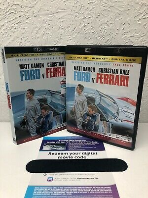 FORD V FERRARI 2020 4K Disc + Digital UHD (NO BLU RAY INCLUDED) Please Read