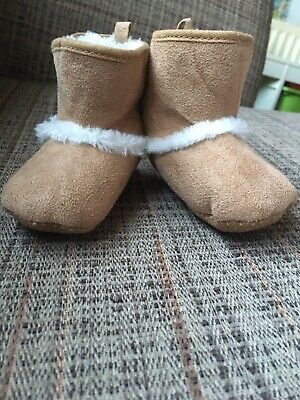 6-12 Months, Pink Baby Boum Faux Suede Booties