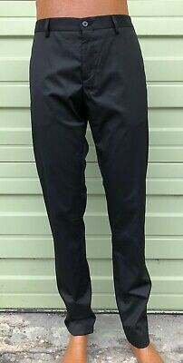 NWT ZARA MAN Black Party Casual suit pants Trousers size 32 x 32 $59 #923