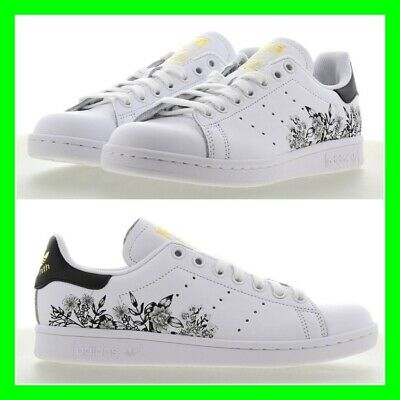 WOMENS ADIDAS STAN Smith Trainers Off White Core Black Shock