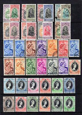 Commonwealth 1948,1951,1953 Good To Fine Used Omnibus Sets & Singles Cat £25.65