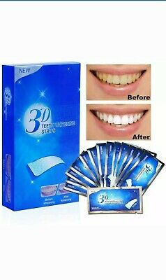 3D Teeth Whitening Strips Professional White  2  Tooth Bleaching 2 Weeks Supply