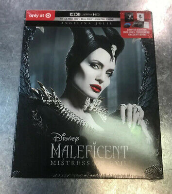 Maleficent Mistress of Evil Exclusive 4k HD+Blu-ray+Digital+Gallery Book NEW!!