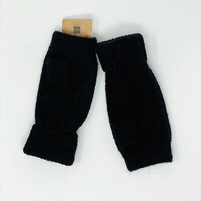 NWT Look By M Fingerless Gloves/Mittens Black Cashmere Blend