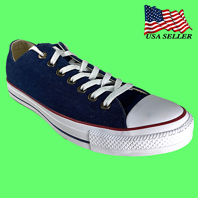 Converse Chuck Taylor All Star Ox Unisex Shoes Dark Blue-Ivory-White 161489f