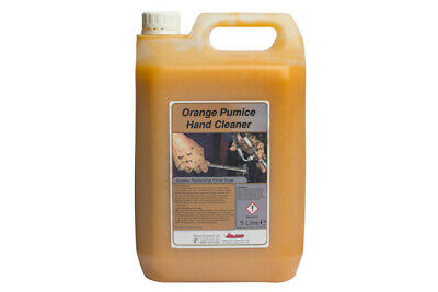 Orange Pumice Heavy Duty Hand Cleaner Garage Solvent Free & 30ml Pump - 5 LITRES