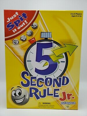 5 Second Rule Jr Board Family Version Popular Party Game Play Fun Kids Toy New