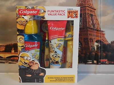 New!!! Colgate Despicable me 3 Oral Care Funtastic Value Pack