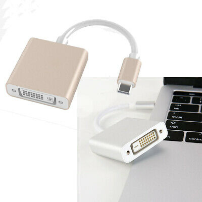 USBC to DVI USB 3.1 Type-C Male to DVI Converter Adapter for Macbook Laptop