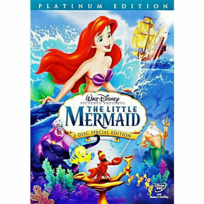 The Little Mermaid (DVD, 2006, 2-Disc Set, Platinum Edition) US Shipping