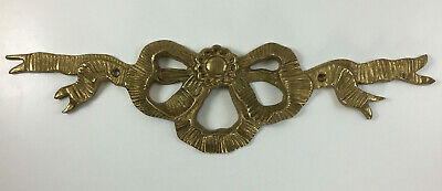 Brass Wall Mount Decorative Ribbons Bow Tie Antique Vintage