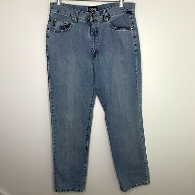 Dolce And Gabbana Light Wash Denim Blue Jeans 34 Waist Relaxed Fit