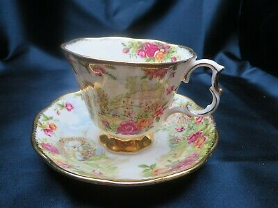 Royal Albert Old Country Roses Garden Celebration 1986 Bone China Cup & Saucer