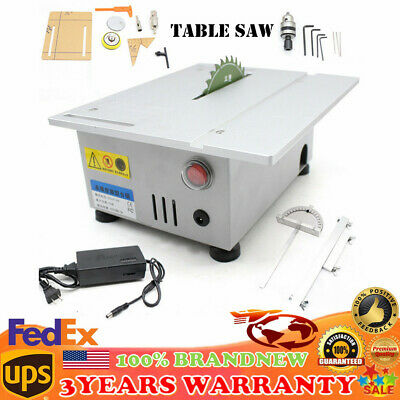 T5 Mini Precision Table Bench Saw Blade DIY Woodworking Cutting Adjustable Speed
