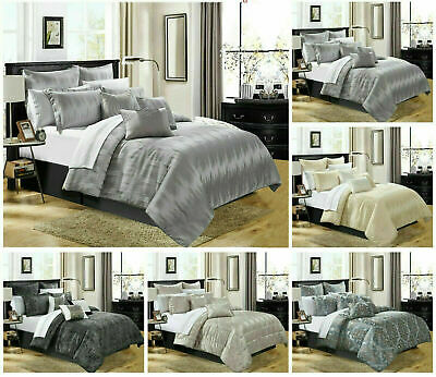 Quilted Bedspread Bed Throws Double King Luxury Floral Bedding Set Pillow cases