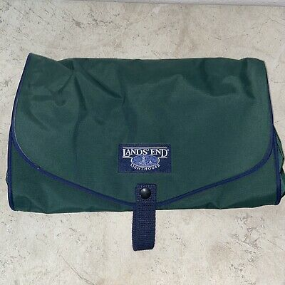 Lands End Lighthouse Green Canvas Travel Toiletry Bag