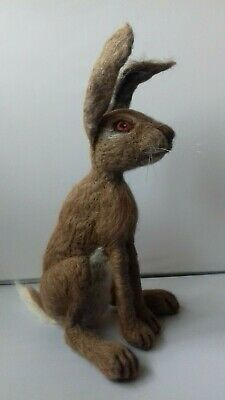 Hare  Large & Small British Rare Breed wool needle felt kit WULYDERMY UNBOXED