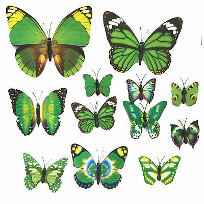 New Fridge Magnets wall Stickers 12X 3D Magnetic Life like Butterfly Stickers AS