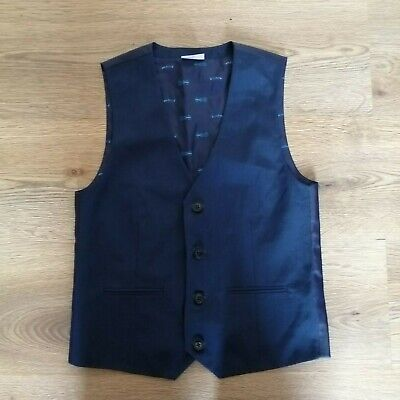 Signature Boys Blue Button Up Waistcoat Age 10 Years Formal Wedding