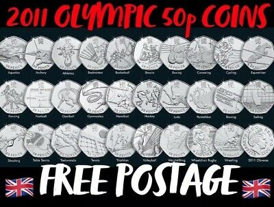 CHEAPEST OLYMPIC & BREXIT 50p COINS FIFTY PENCE (FOOTBALL, JUDO, TRIATHLON)