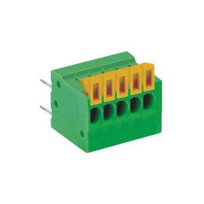 2.54mm PCB Terminal Block, 6 Way, 26AWG to 20AWG, Push In - MC000005