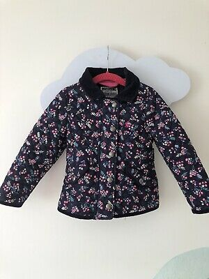 Joules girls Quilted Jacket Size 2 Years