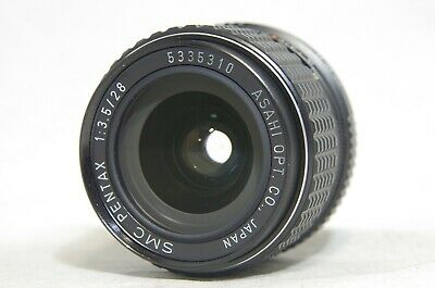 SMC Pentax 28mm F/3.5 MF Wide Angle Prime Lens SN5335310 for K Mount *As-Is*