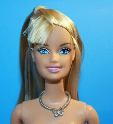 BARBIE Golden BLONDE Hair NUDE Belly Button Body OPEN MOUTH SMILE Pink Lips