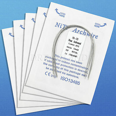 10Pack Dental Orthodontic Heat thermal Activated Niti Round Arch Wire 10 Size CS
