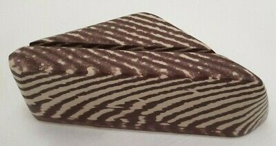 VERY RARE ZEBRA rock, Collectable BUSINESS CARD HOLDER, 11.5 X 4.5 X 5cm tall