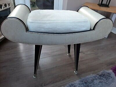 Vintage Vanity Stool Mid 20th Century with Dansette legs