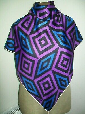 Jacqmar. Bold And Striking Abstract Design Vintage Silk Scarf