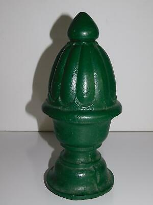 Vintage Cast Iron Green Acorn Fence Post Finial Topper Architectural Object