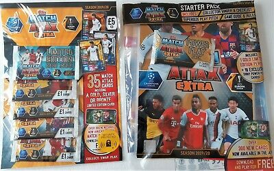 Match Attax extra 2019/20 Starter pack and Multipack