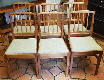 Alan 'Acornman' Grainger - Set Of 5 Dining Chairs - Arts & Crafts - Rare (A2)