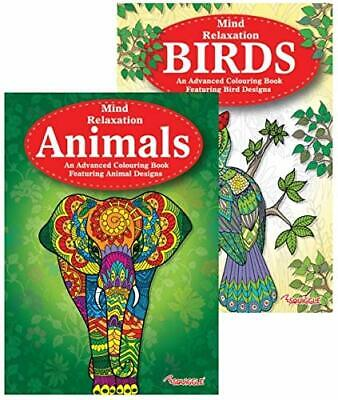 Martello Animals & Birds A4 Adult Colouring Books, Relaxation Anti Stress