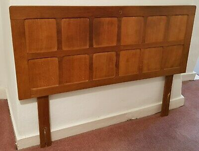 "Alan 'Acornman' Grainger - Headboard / 4' 6"" - Arts & Crafts - Rare (A5)"