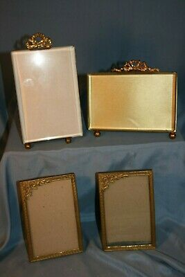 lot de 4 cadres anciens en bronze ou laiton porte photos