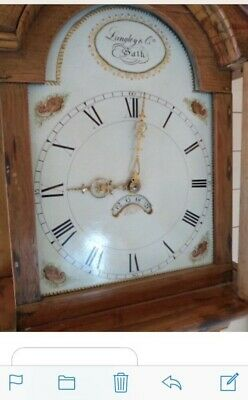 Antique Pine Grandfather  Clock, with beautiful chimes.