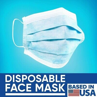 50 PCS 3-layer Disposable Medical Masks Dental Mouth Face at least 99% of bacter