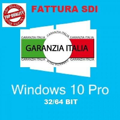 Licenza Windows 10 Pro Professional 32 / 64 Bit Product Key Esd Fattura