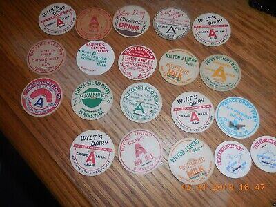 A Mixed Lot of 100 Old /& Authentic Milk Bottle Caps
