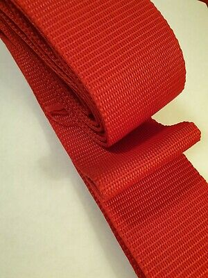 1m x 2 inch wide Red Webbing Rolls Polypropylene Straps and Lashing