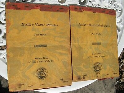 Antique 1927 Jack Merlin's Master Miracles & Manipulations Card Trick Books